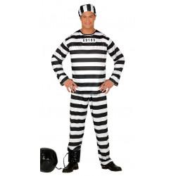 Disfraz de presidiario adulto. Disfraz de ladrón preso para adulto