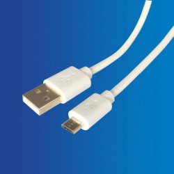 Cable USB - Mini USB, Blanco