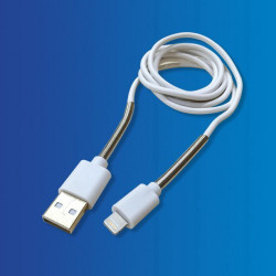 Cable USB - Apple, Protector Aluminio