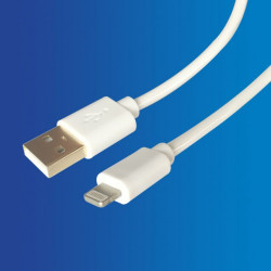 Cable USB - Apple, 1.5MTS Blanco