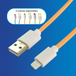 Cable USB - Apple, 1.5mts Varios Colores
