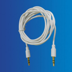 Cable Jack-Jack 3.5mm, 1.8mts Blanco