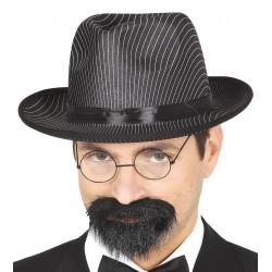 Sombrero gangster negro de rayas