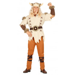 Disfraz de guerrero vikingo para adulto. Disfraz de rey nórdico para adulto