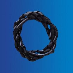 Vendas de embalaje espiral, negro.