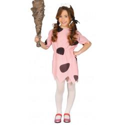 Disfraz de Cavernícola Pink Infantil - Disfraz de la Edad Piedra para Niña