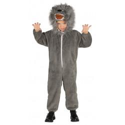 Disfraz de Lobo infantil. traje de lobo para niño.