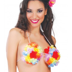 Sujetador de flores Hawaiano