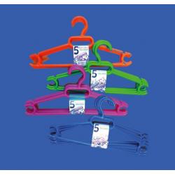 Pack 5 Perchas, Colores Neón