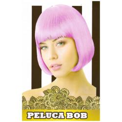 Peluca Corta Lisa Bob Rosa Claro para Carnavales y Despedida de Soltero