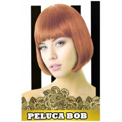 Peluca Corta Lisa Bob Pelirroja para Carnavales y Despedidas de Solter