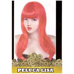 Peluca Larga Lisa Roja para Disfraz y Despedidas de Soltero