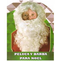 Peluca y barba papá Noel