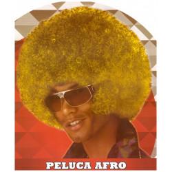 Peluca afro amarilla