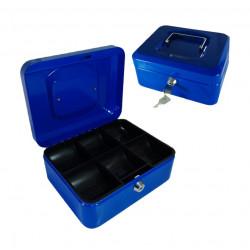 Caja Caudal de Metal 12.5*9.5*6 cm. Caja fuerte portátil de metal