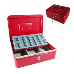 Caja Caudal de Metal 25*18*9 cm. Caja fuerte portátil de metal