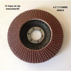 """Disco Tapa 72 Hojas de Lija, 4.5""""(112MM)"""