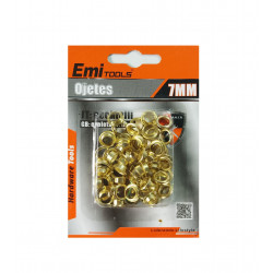 Set de ojetes de  7 mm, 100 PCS