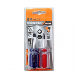 Mini Destornilladores, Plano y Cruz, 2 pcs