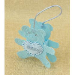 Bolsita de Regalo Azul en forma de oso, 10*10 cm