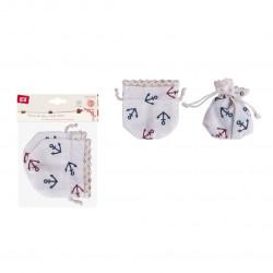 Set de 2 sacos de tela con cierre de cordon