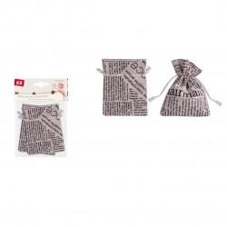 Set de 3 sacos de tela con cierre de cordon