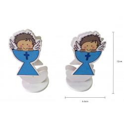 Porta-Tarjeta Bautizo y Baby Shower, Color Azul