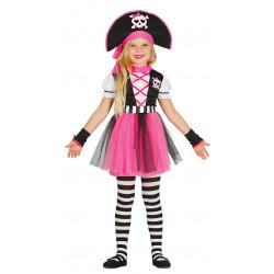 Disfraz de Pirata Pink Infantil- Disfraz de Pirata Rosa para Niña