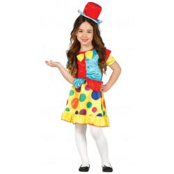 Disfraz de Payasita con Lunares para Niña - Vestido de Payasa Infantil