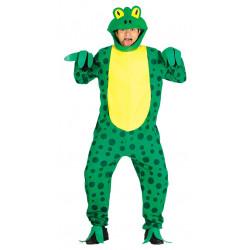 Disfraz de rana con pintas negras para adulto
