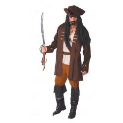 Disfraz de capitán pirata adulto. Disfraz de Capitán Garfio para adulto
