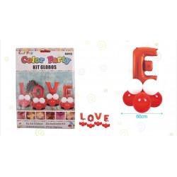 Set globos LOVE de  44 pcs