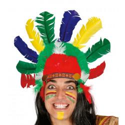 Penacho de Indio, Plumas de colores