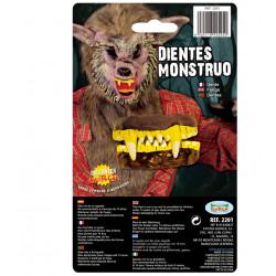 Dientes de Vampiro-Hombre Lobo Amarillos