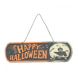 Cartel Colgante 'Happy Halloween' Poliespán