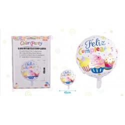 Globo Mylar Feliz Cumpleaños de 45 cm