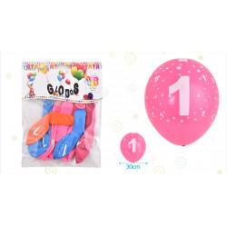 Set de globos Número 1, 8 pcs