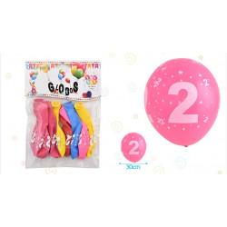 Set de globos número 2, 8 pcs