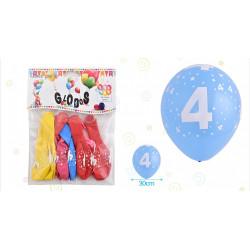 Set de globos Número 4, 8 pcs