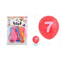 Set de globos Número 7, 8 pcs