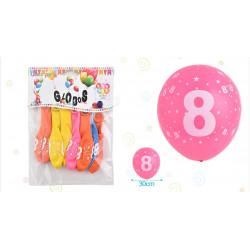 Set de globos Número 8, 8 pcs
