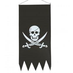 Cartel Pirata 23x86 cm Bandera