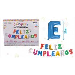 Set Globos Mylar Feliz Cumpleaños, 15 pcs