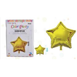 Globo Mylar Estrella color Oro