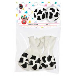 Globos de vaca, 5 unidades. Globos Dálmata para Fiesta y Cumpleaños