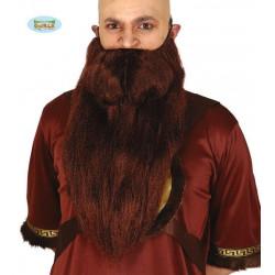 Barba Extra Grande de Vikingo Castaña