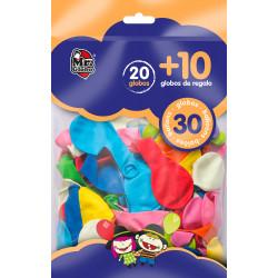 Globos colores 30 unidades