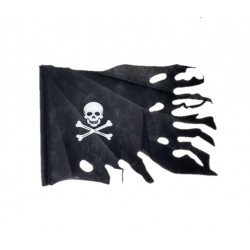 Bandera Pirata Negra con Palo