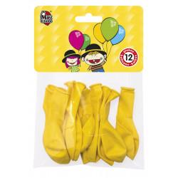 Globos Amarillos 12 unidades. Globos para Fiesta y Cumpleaños