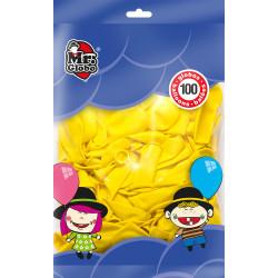 Globos Amarillos 100 Unidades. Globos para Fiesta y Cumpleaños